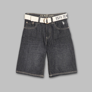 US Polo Assn. Boy's Belted Denim Shorts at Sears.com
