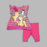 Disney Baby Infant & Toddler Girl's Striped Princess Legging Set at Sears.com