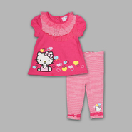 Hello Kitty Infant and Toddler Girl's Striped Legging Set at Sears.com