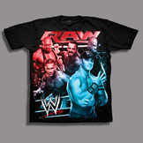 WWE Boy's T-shirt Graphic RAW Short Sleeve-Black at mygofer.com