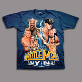 WWE Boy's Wrestlemania Short Sleeve Graphic T-Shirt at mygofer.com