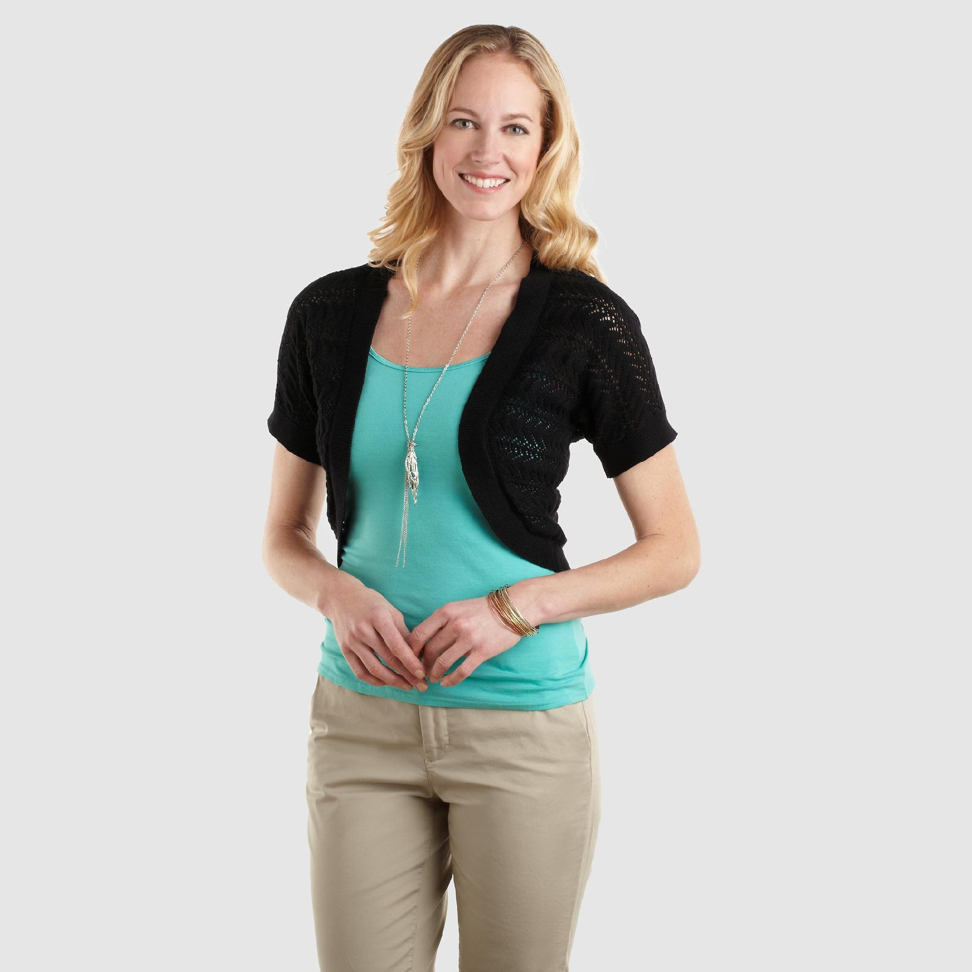 Jaclyn Smith Women's Pointelle Shrug at Kmart.com