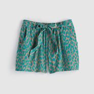 Junior's Tie-Front Shorts - Leopard Print at Sears.com