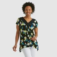 Jaclyn Smith Women's V-Neck Top - Floral at Kmart.com