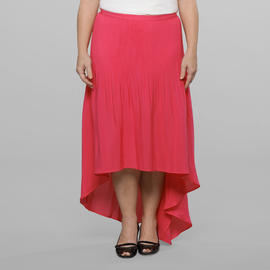 Love Your Style, Love Your Size Women's Plus Pleat and Release Hi Low Skirt at Kmart.com