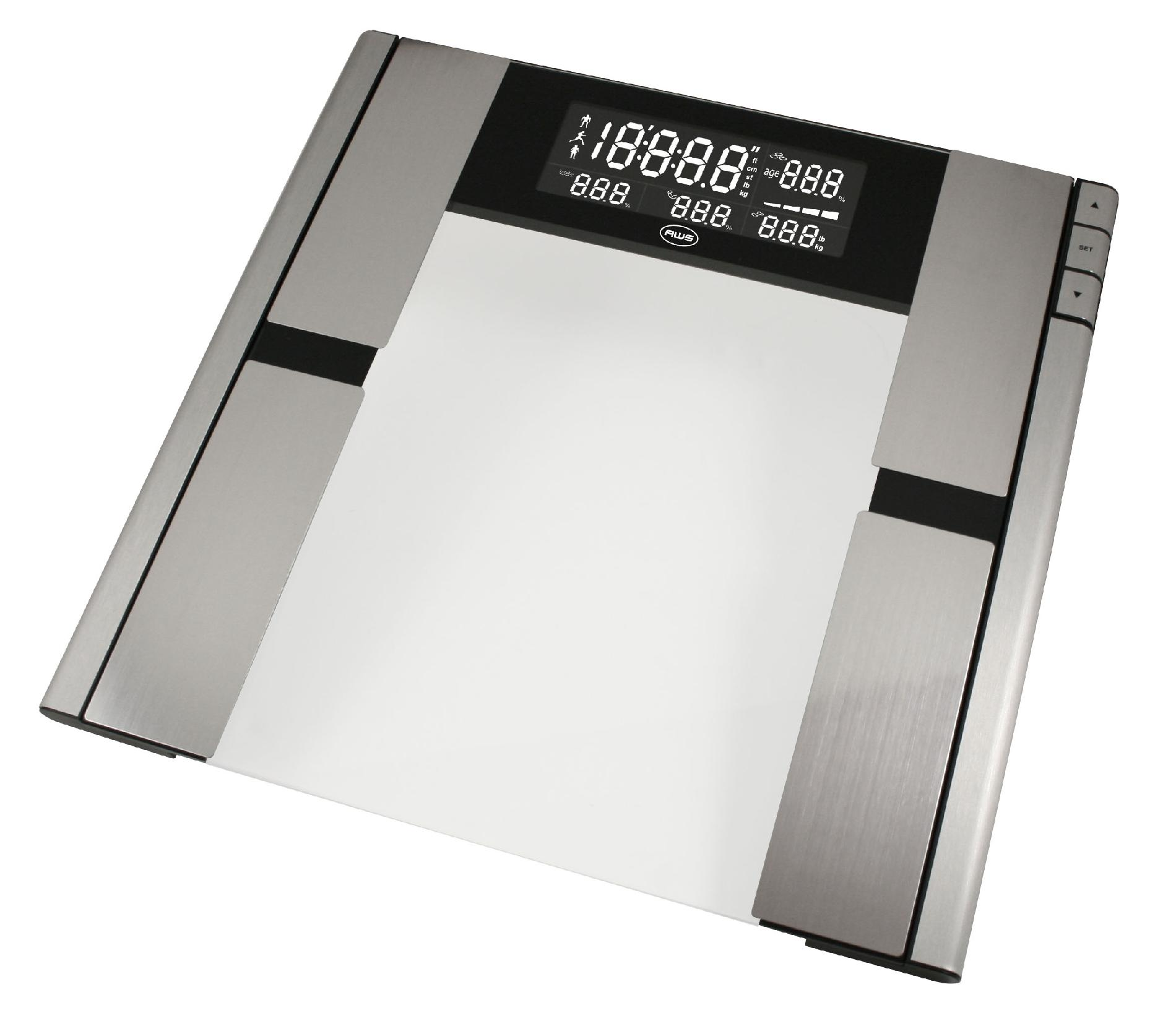 American Weigh Scales Quantum Body Fat and Water Scale 396lb x 0.2lb