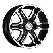 Gear Alloy 713MB Double Pump 16X8 (6-5.5) Machined w/ Black Accents at Sears.com