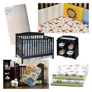 Ark Pals Crib, Mattress, Bedding Set and Sheets Bundl...