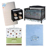 Baby Boy Crib, Mattress and Bedding Bundle           ...