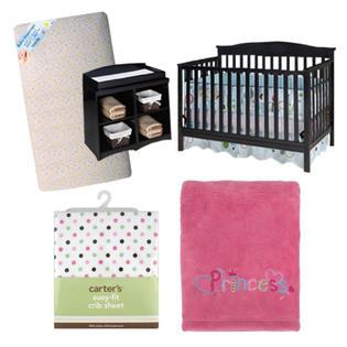 -Baby Girl Crib and Bedding Bundle
