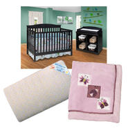 Crib and Mattress with Luv Bug Bedding Set Bundle at Sears.com
