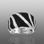 Shades Of Elegenace Platinum Over Bronze Black & White Zebra Ring at Kmart.com