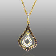 Chocolate Elegance Gold Over Bronze Brown & White Crystal Teardrop Pendant at Kmart.com