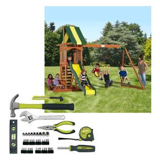 -Backyard Discovery Swing Set & Homeowners Tool Bundle