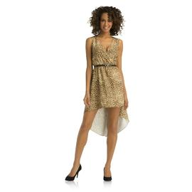 Kardashian Kollection Women's Faux Wrap Dress - Leopard Print at Sears.com