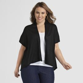 Jaclyn Smith Women's Plus Lurex Shrug at Kmart.com