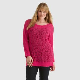 Jaclyn Smith Women's Plus Open-Knit Top at Kmart.com