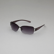Attention Women's Rectangular Semi-Rimless Sunglasses at Kmart.com