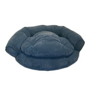 Large Microfiber Comfort Couch - Blue at Kmart.com
