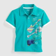Toughskins Infant Boy's Layered Polo Shirt - Guitars at Sears.com