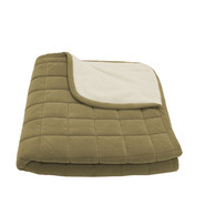 Small Box Quilt Microfiber & Sherpa Throw - Sage at Kmart.com
