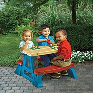 American Plastic Toys Kid Sized Picnic Table at Kmart.com