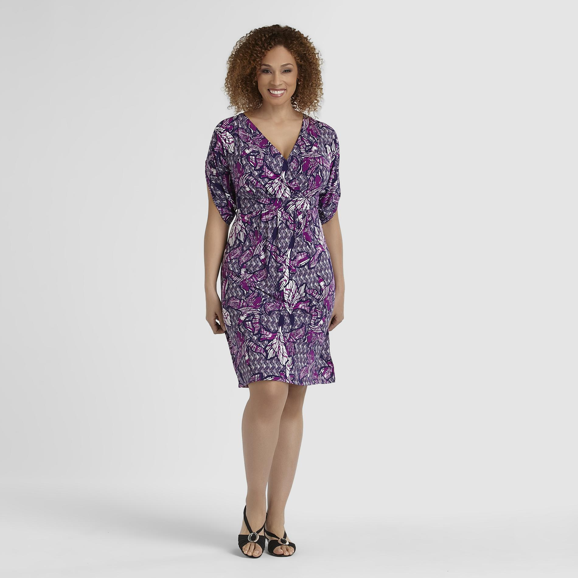 Jaclyn Smith Women's Plus Knit Dress - Floral Print at Kmart.com