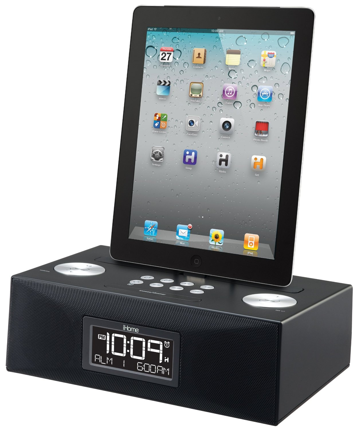 iHOME iHome Dual Alarm iPad iPhone iPod Black