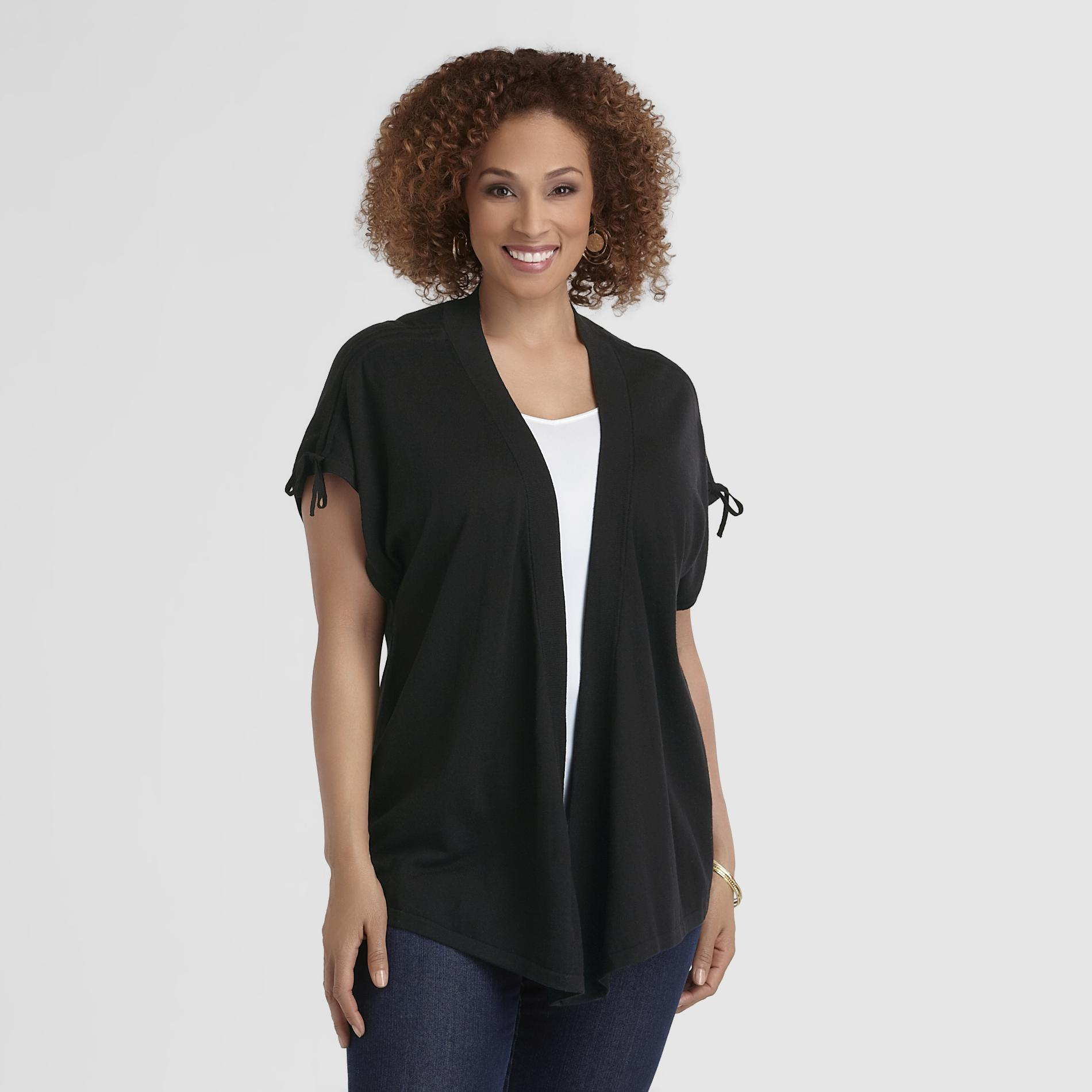 Jaclyn Smith Women's Plus Open Front Cardigan at Kmart.com