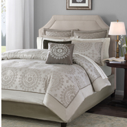 Madison Classics Sausalito Beige/Tan California King 12pcs Jacquard Comforter Set at Kmart.com