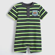 Small Wonders Infant Boy's Henley Romper - Monster Truck at Kmart.com