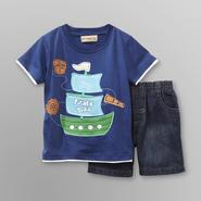Kids Headquarters Toddler Boy's T-Shirt & Shorts - Pirate Trail at Kmart.com