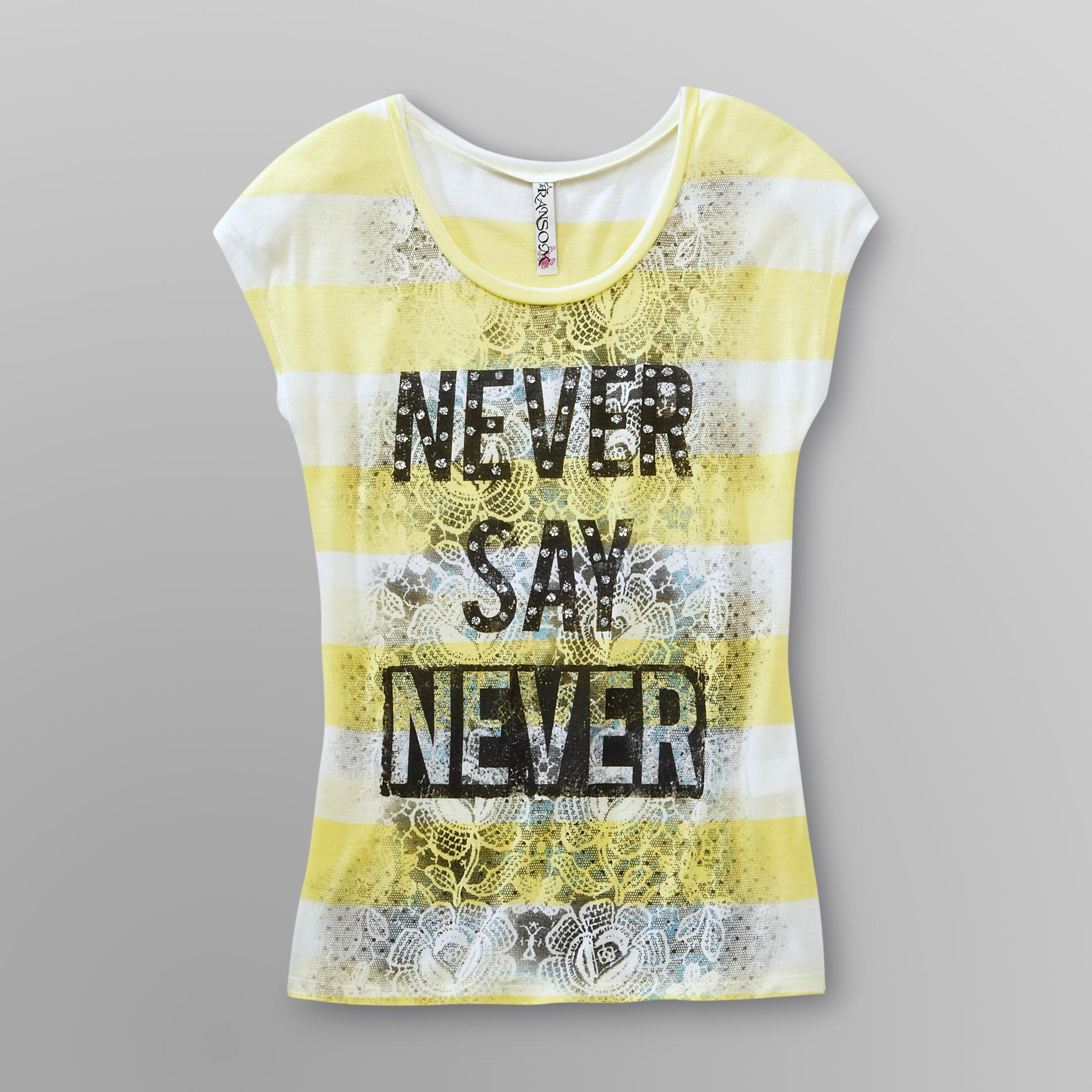 Ransom Junior's Graphic T-Shirt - Never Say Never