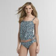 Jaclyn Smith Women's Blouson Tankini Top - Animal Print at Kmart.com