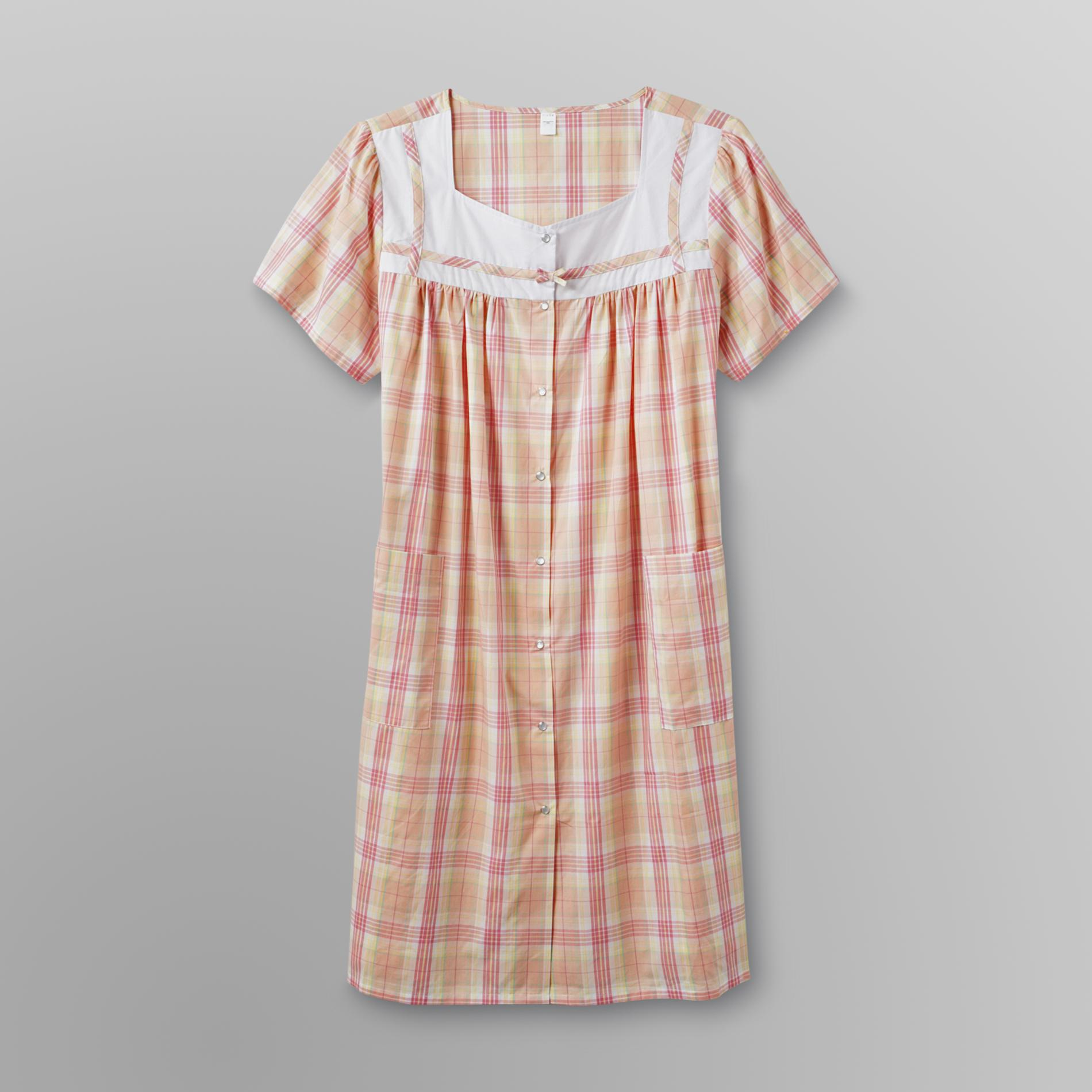 Pink K Women's Plus Duster - Plaid at Kmart.com