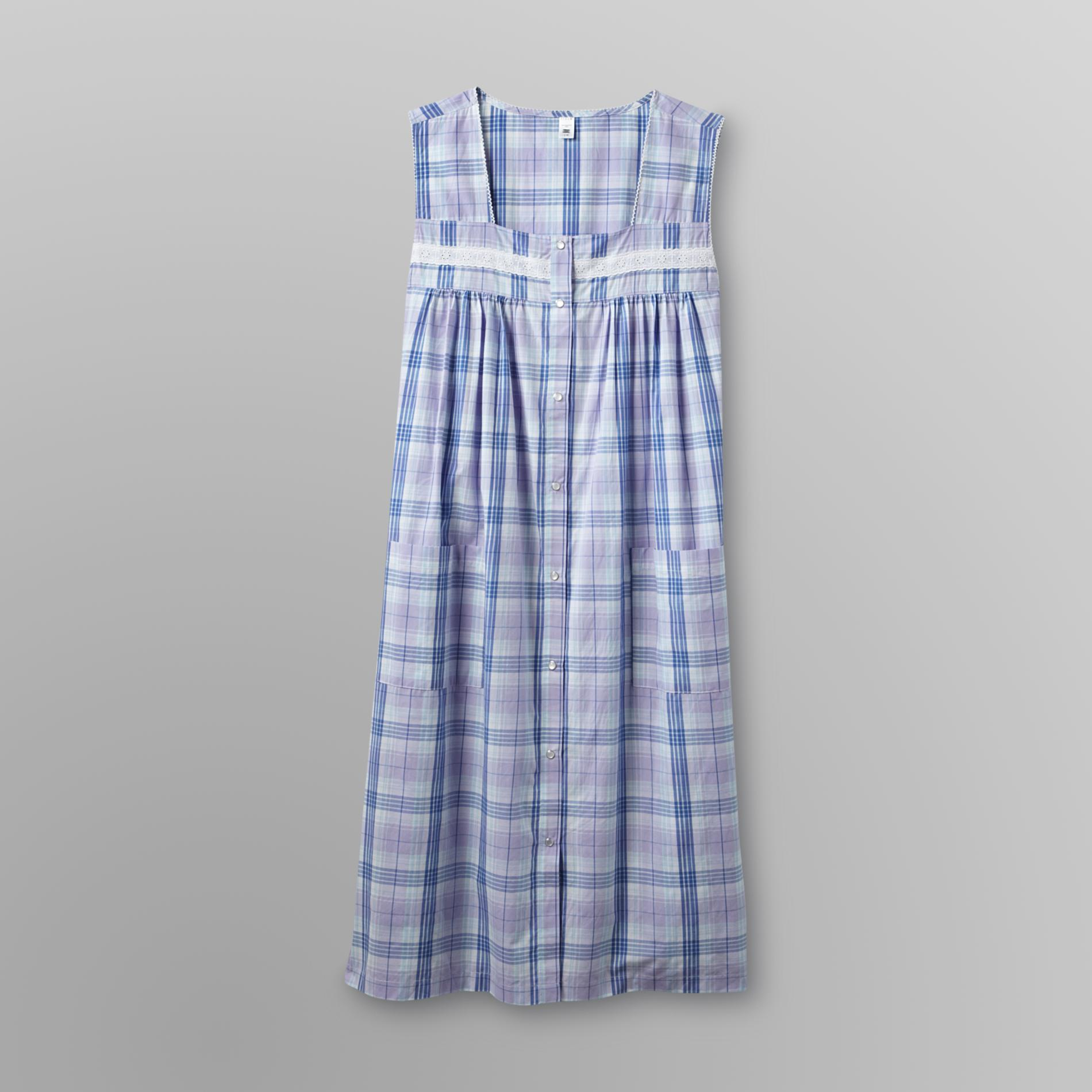 Pink K Women's Plus Sleeveless Duster - Plaid at Kmart.com