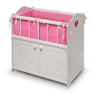 Badger Basket White Storage Doll Crib with Bedding at Kmart.com