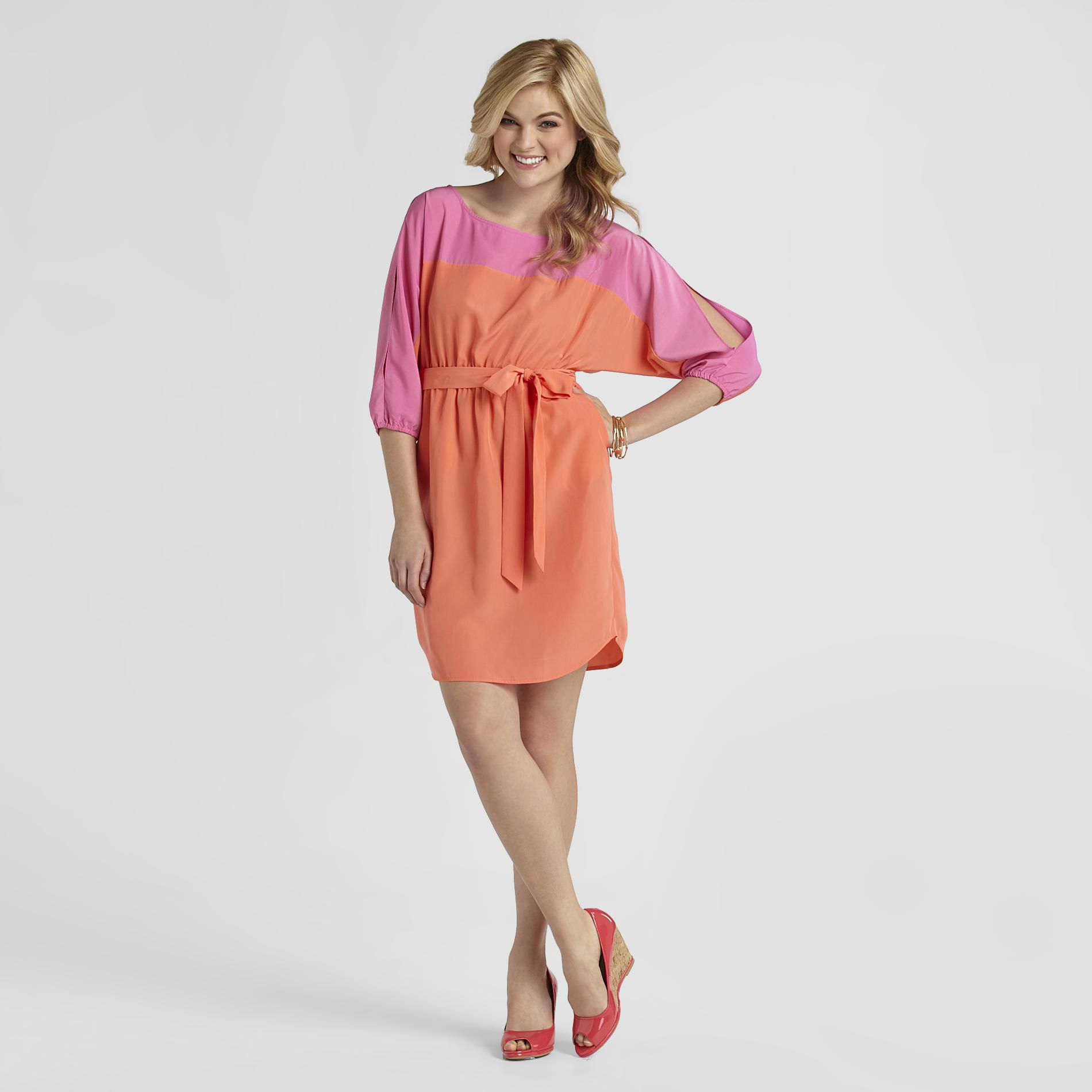 Attention Women's Dolman Dress - Color Block at Kmart.com