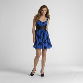 Junior's Flocked Formal Dress at Sears.com