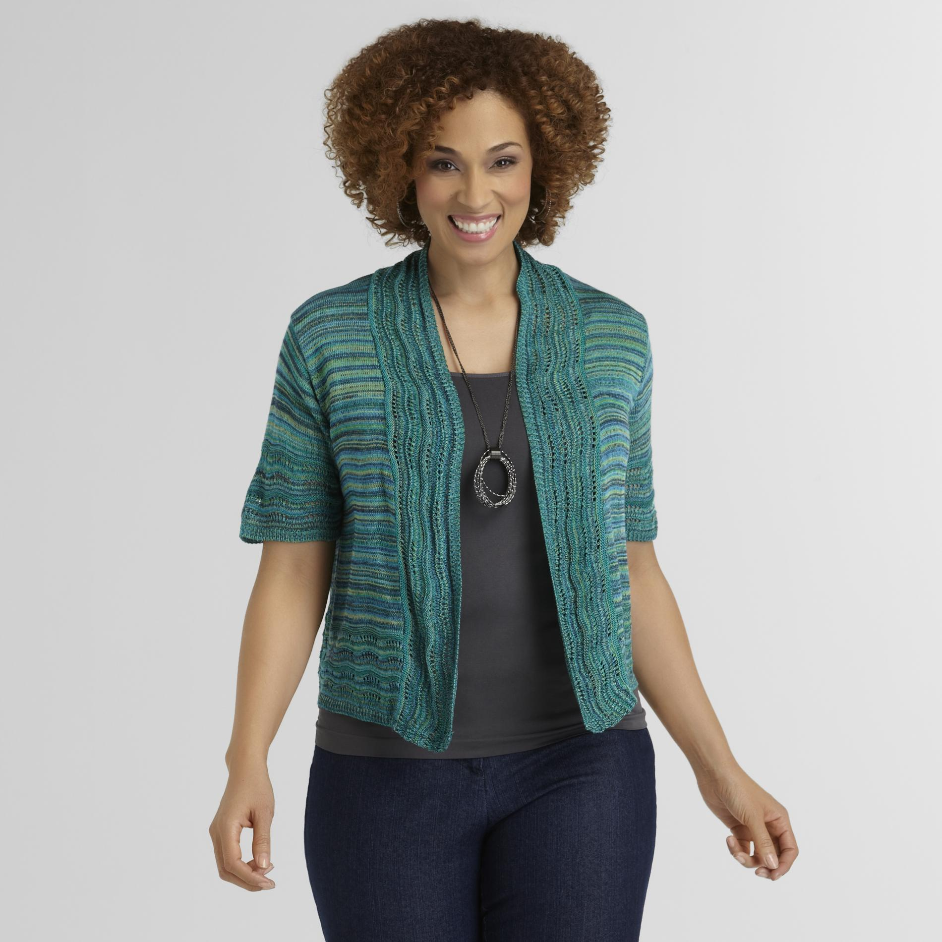 Basic Editions Women's Plus Marled Cardigan at Kmart.com