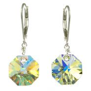 Lita Sterling Silver Swarovski Crystal Octagon Shape Earrings at Kmart.com
