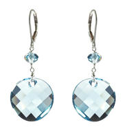 Lita Sterling Silver Swarovski Aquamarine Colored Round Drop Earrings at Kmart.com