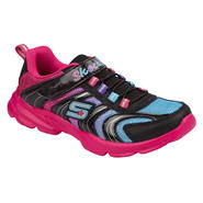 Skechers Girl's Sneaker Lite Curvez - Black/Fuchsia at Sears.com