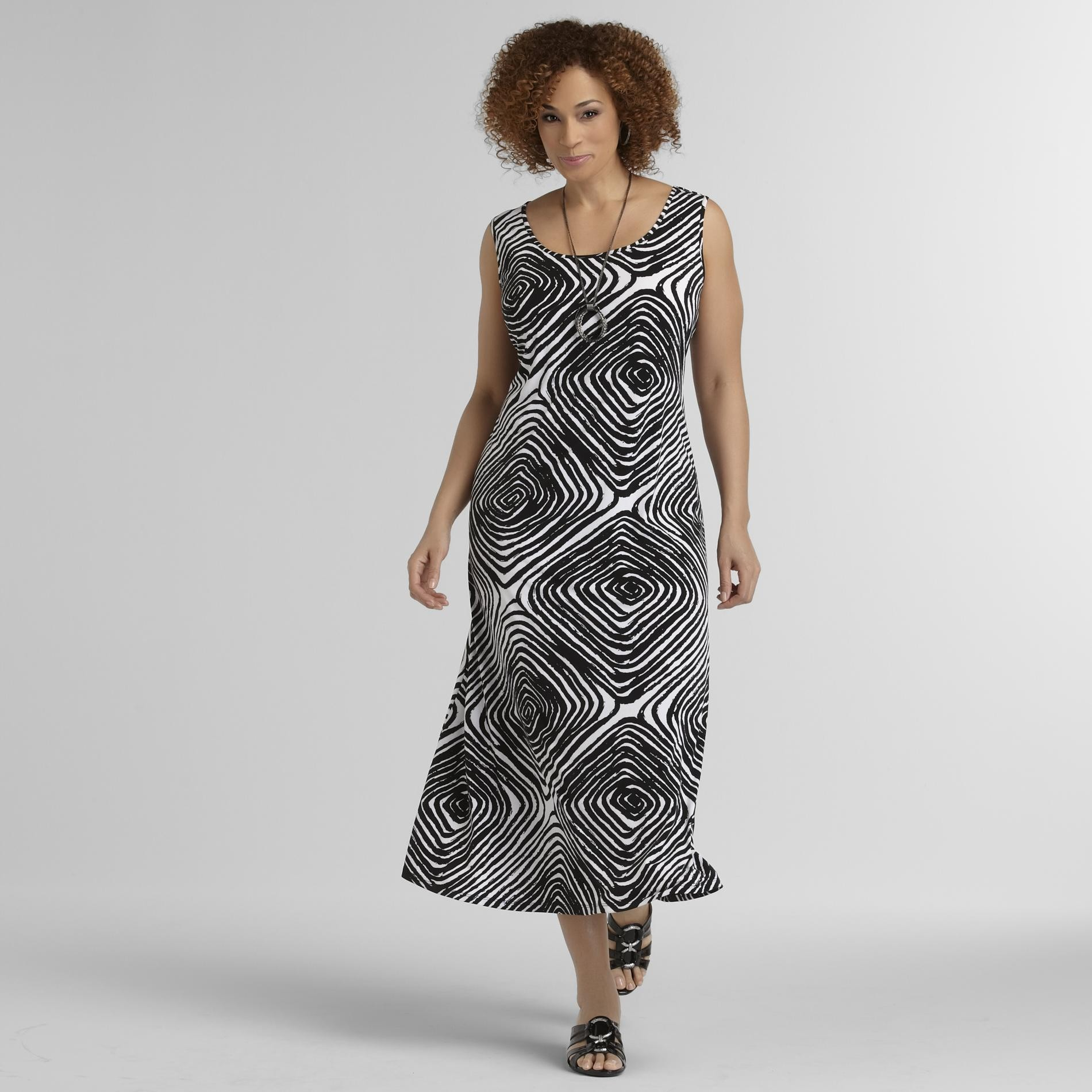 JBS Women's Plus Sleeveless Maxi Dress - Print at Sears.com