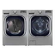 LG 4.3 cu. ft. Steam Front-Load Washer and 7.4 cu. ft. Steam Dryer Bundle at Sears.com