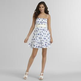 Trixxi Junior's Crochet-Waist Dress - Floral at Sears.com