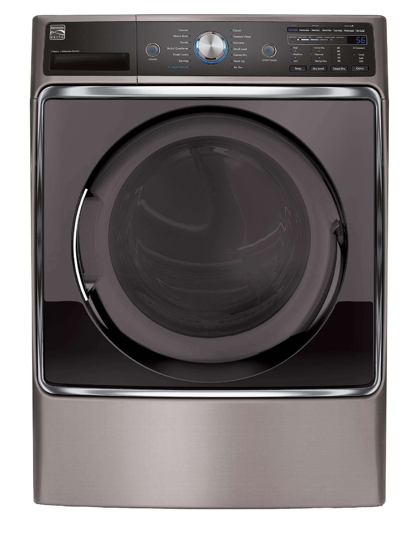 Kenmore Elite  9.0 cu. ft. Gas Dryer - Metallic Silver