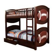 Venetian Worldwide Olympic Football Twin-over-Twin Bunk Bed, Espresso at Kmart.com