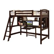 Venetian Worldwide Hayden Loft Bed  with Work Station, Espresso at Kmart.com