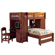 Venetian Worldwide Hardford Twin-over-Twin Loft Bed, Oak at Sears.com